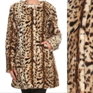 f0c6d552bde1 MODA ME COUTURE Jackets & Coats | Top Fw 2018 Trend Leopard Coat ...